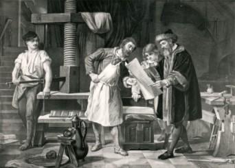 MZ_Gutenberg_Museum_Litographie_Gutenberg_und_Mitarbeiter_opt